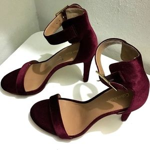 Calvin Klein Velvet Strap Sandals